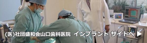 (医)社団盛和会山口歯科医院・インプラントサイトへ
